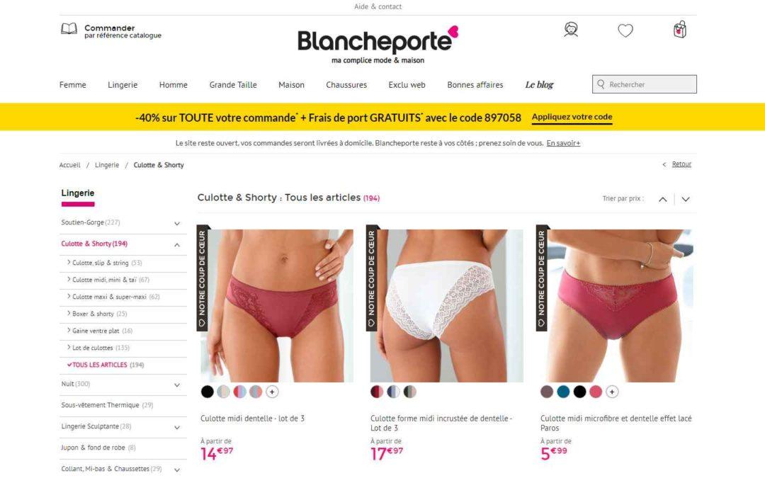 BlanchePorte – TOP meilleur vendeur